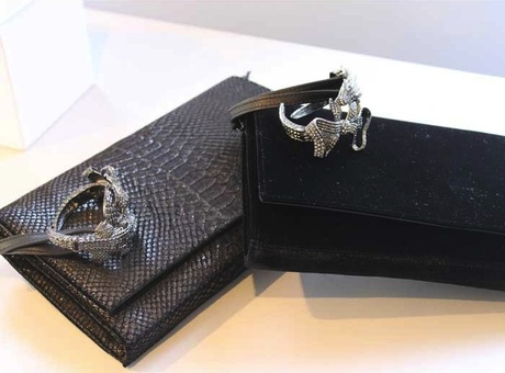 Viktor & Rolf Jeweled Cuff Bag: Croc 'n' Roll