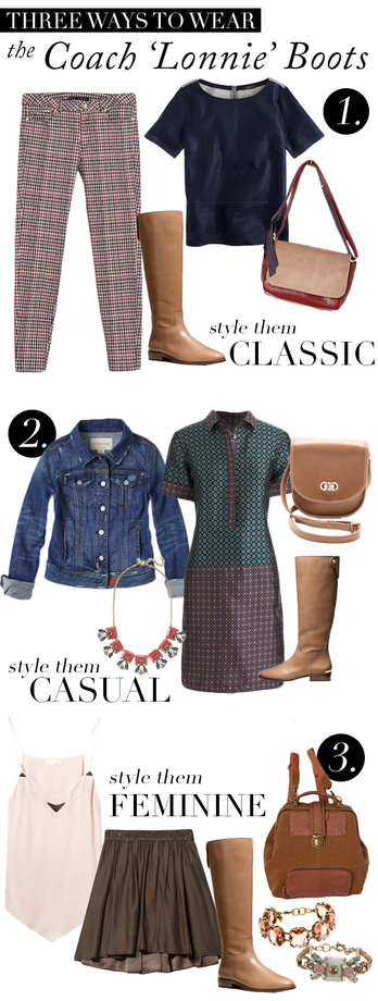 Three Ways To Wear Coach 'Lonnnie' Boots
