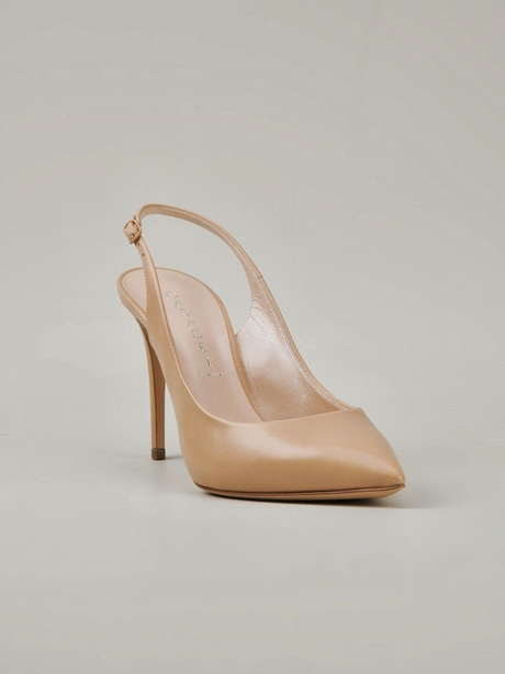 Nude Sling-Back Pumps