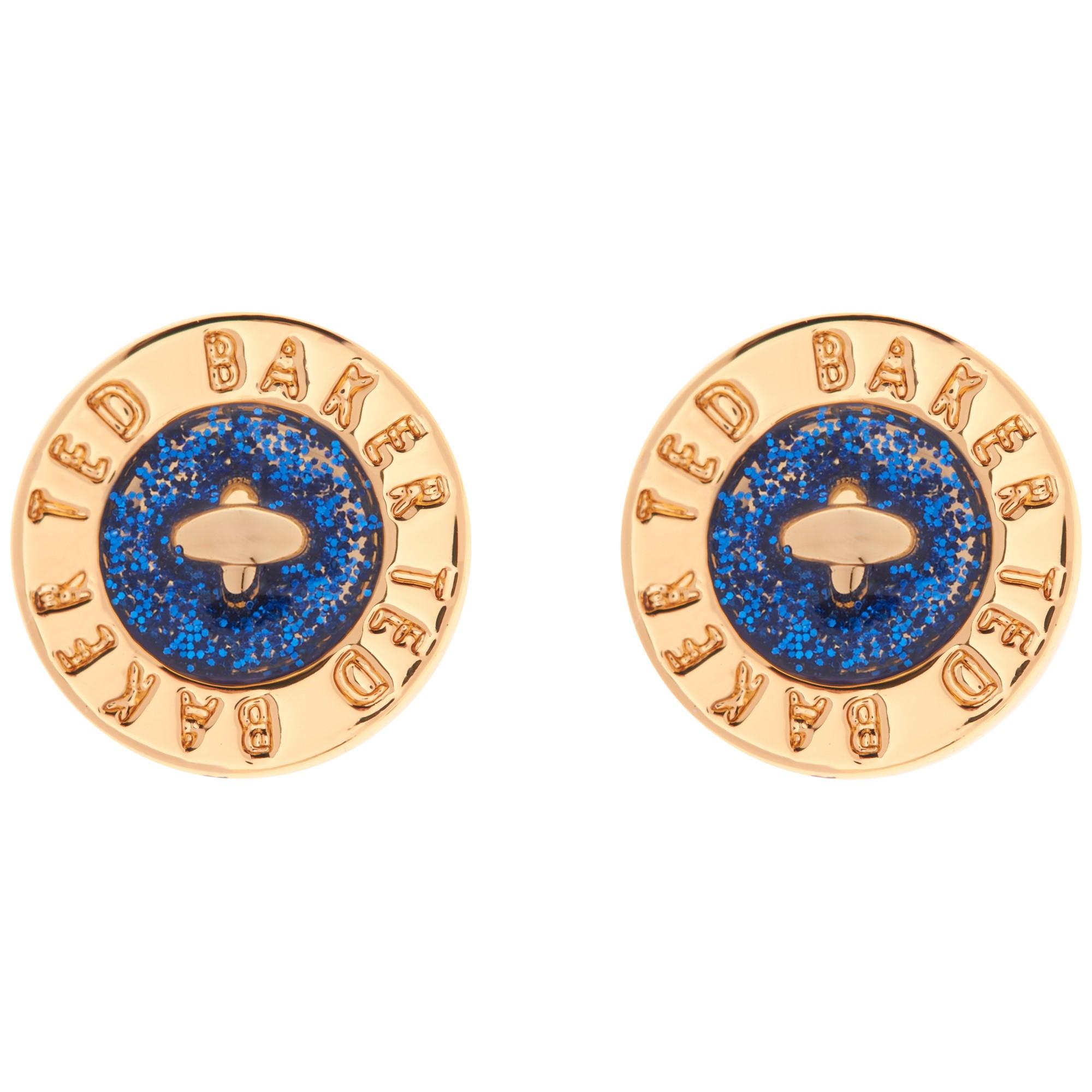 30b2cad2b7d454 Ted Baker Tempany Enamel Button Stud Earrings in Blue - Lyst