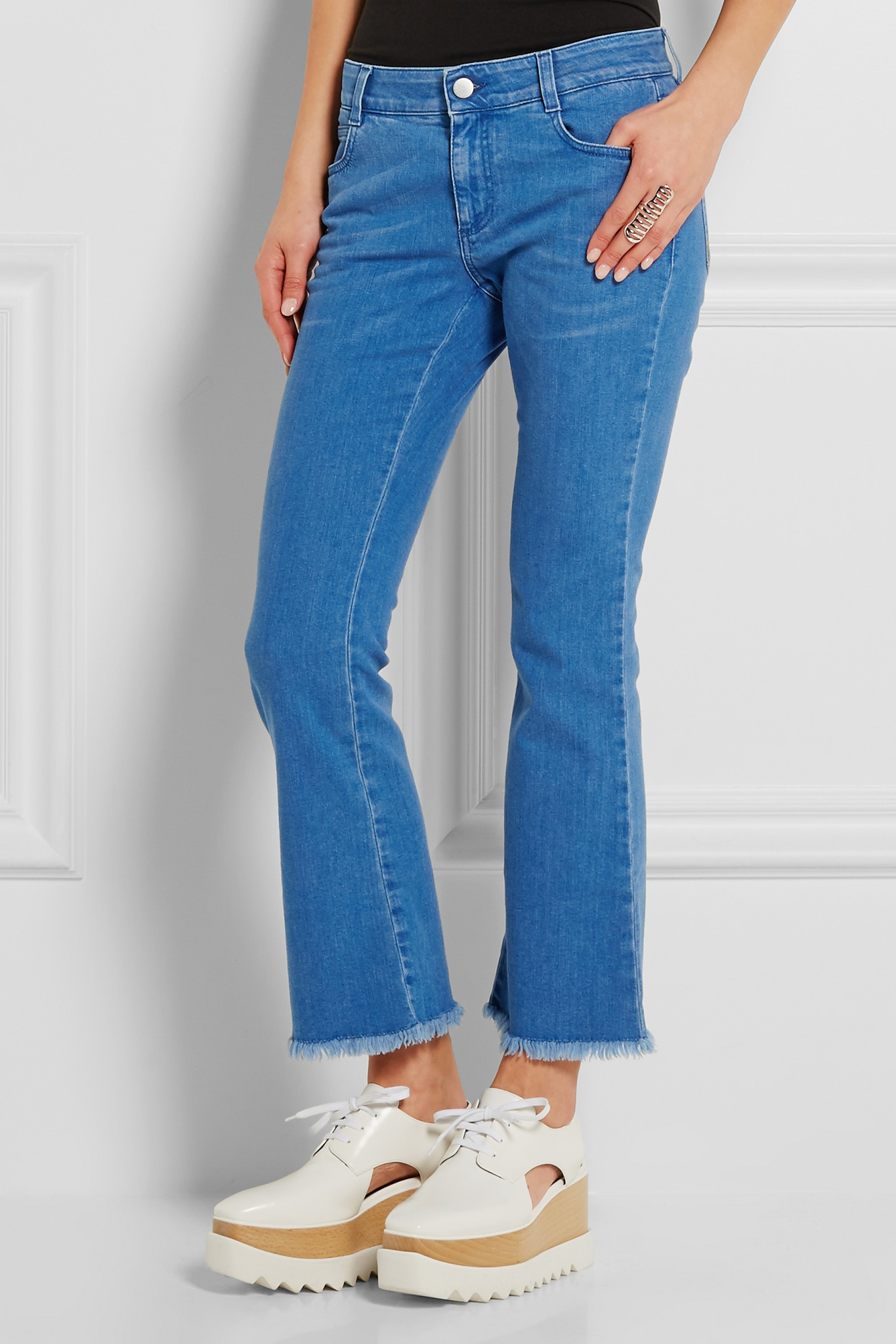 Mid-rise cropped jeans Stella McCartney Under 70 Dollars uB9QZXMTSP