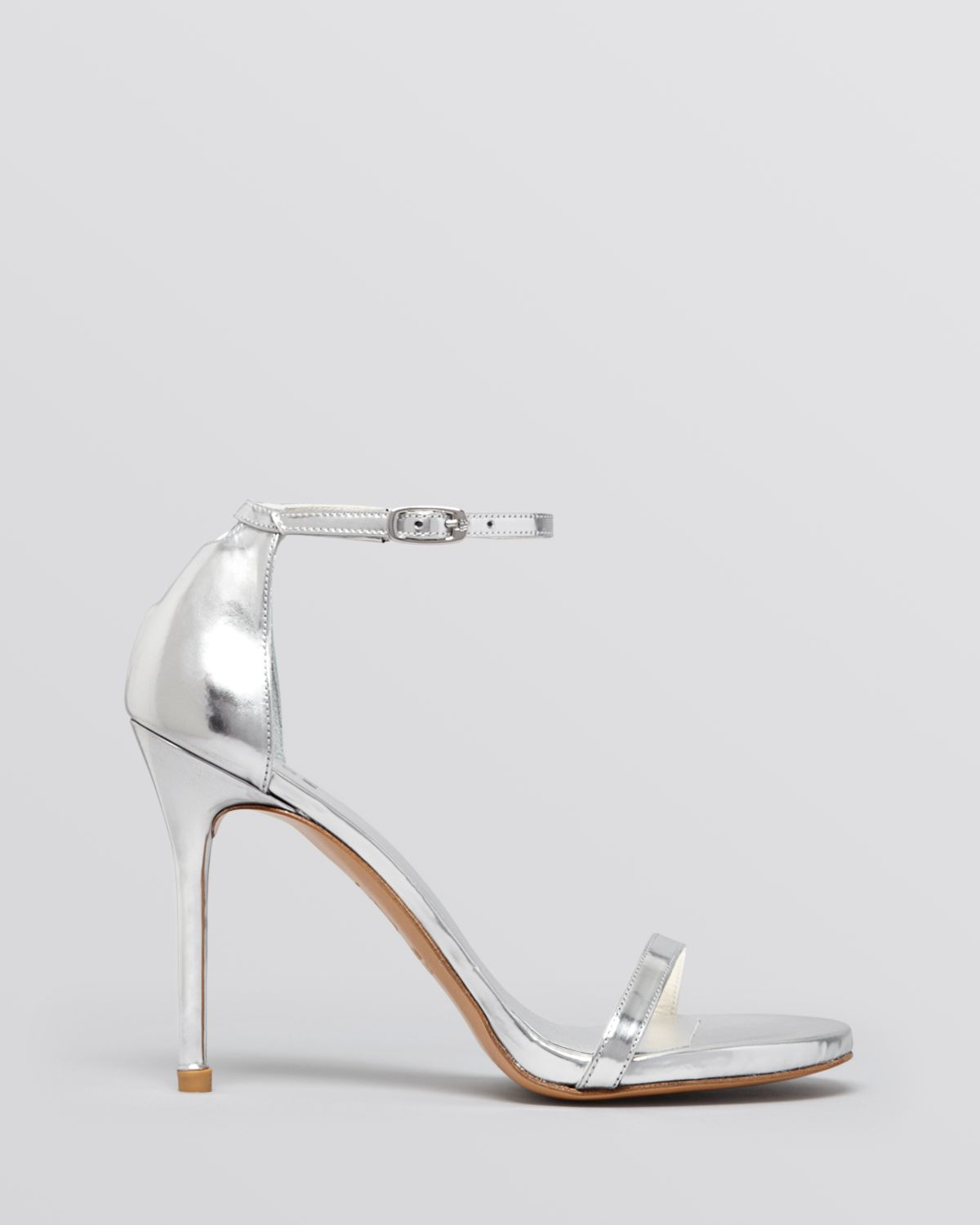 Silver Heels Open Toe - Is Heel