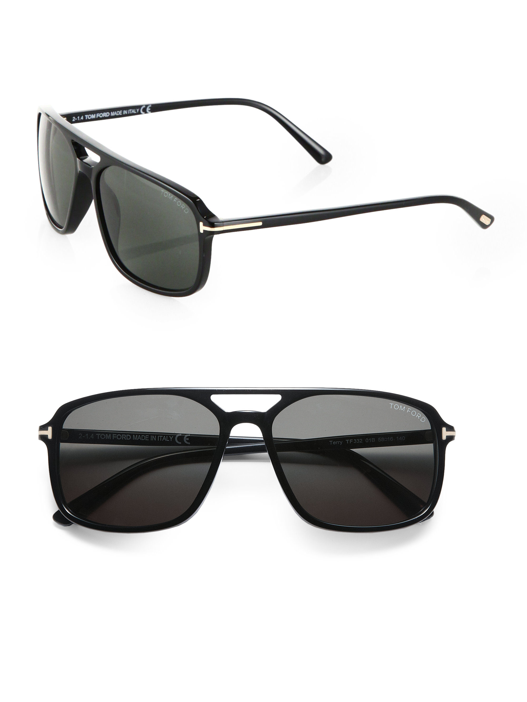 lyst tom ford flynn 58mm acetate sunglasses in black for men. Black Bedroom Furniture Sets. Home Design Ideas