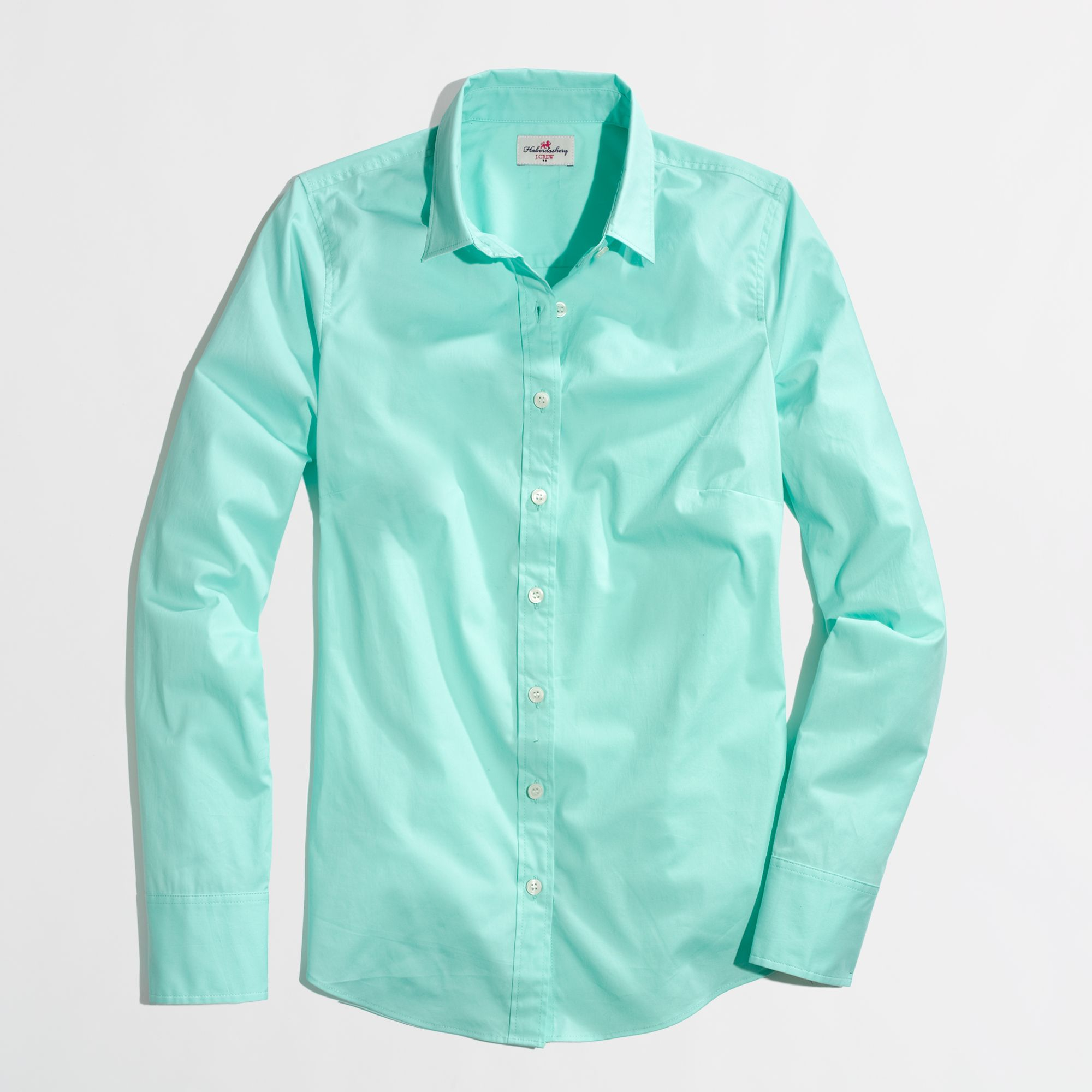 Factory stretch classic buttondown shirt in green for Womens stretch button down shirt