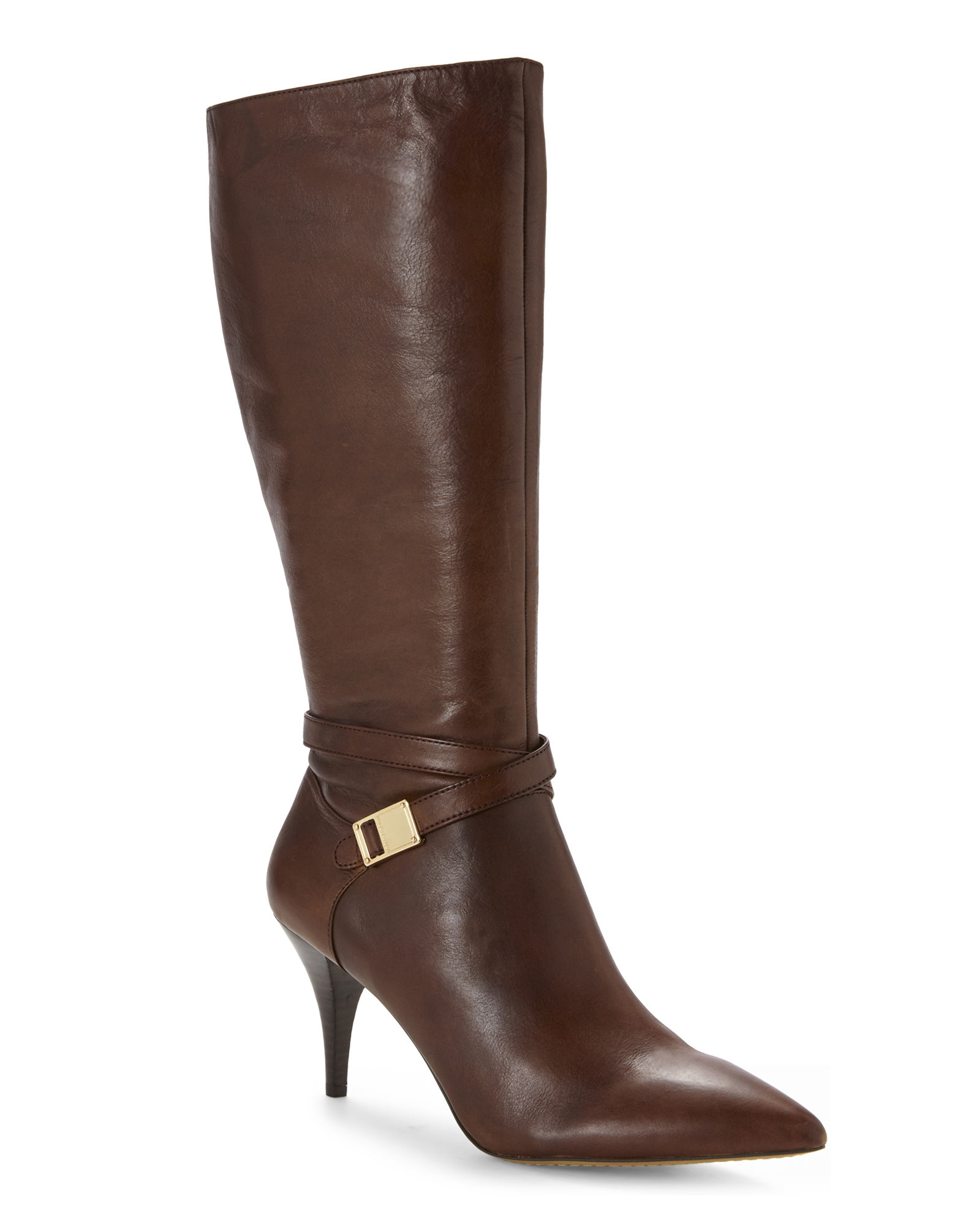 Vince camuto Russet Ofra Wide Calf Tall Boots in Brown | Lyst