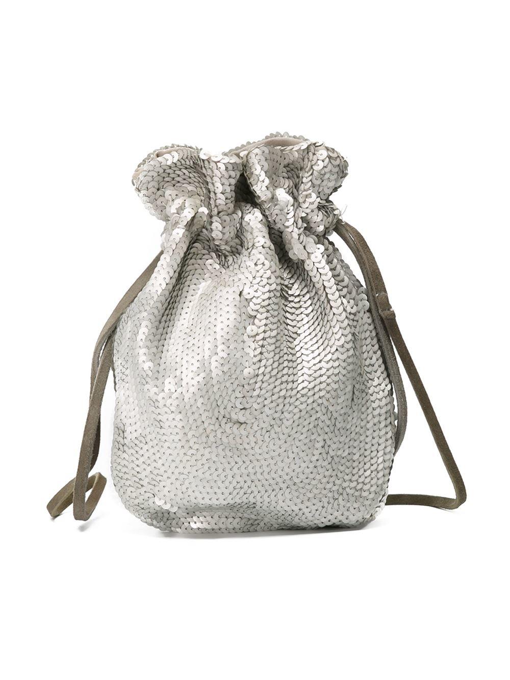 Lyst - Prada Sequin Drawstring Bag in Metallic 720dbdf37dcba