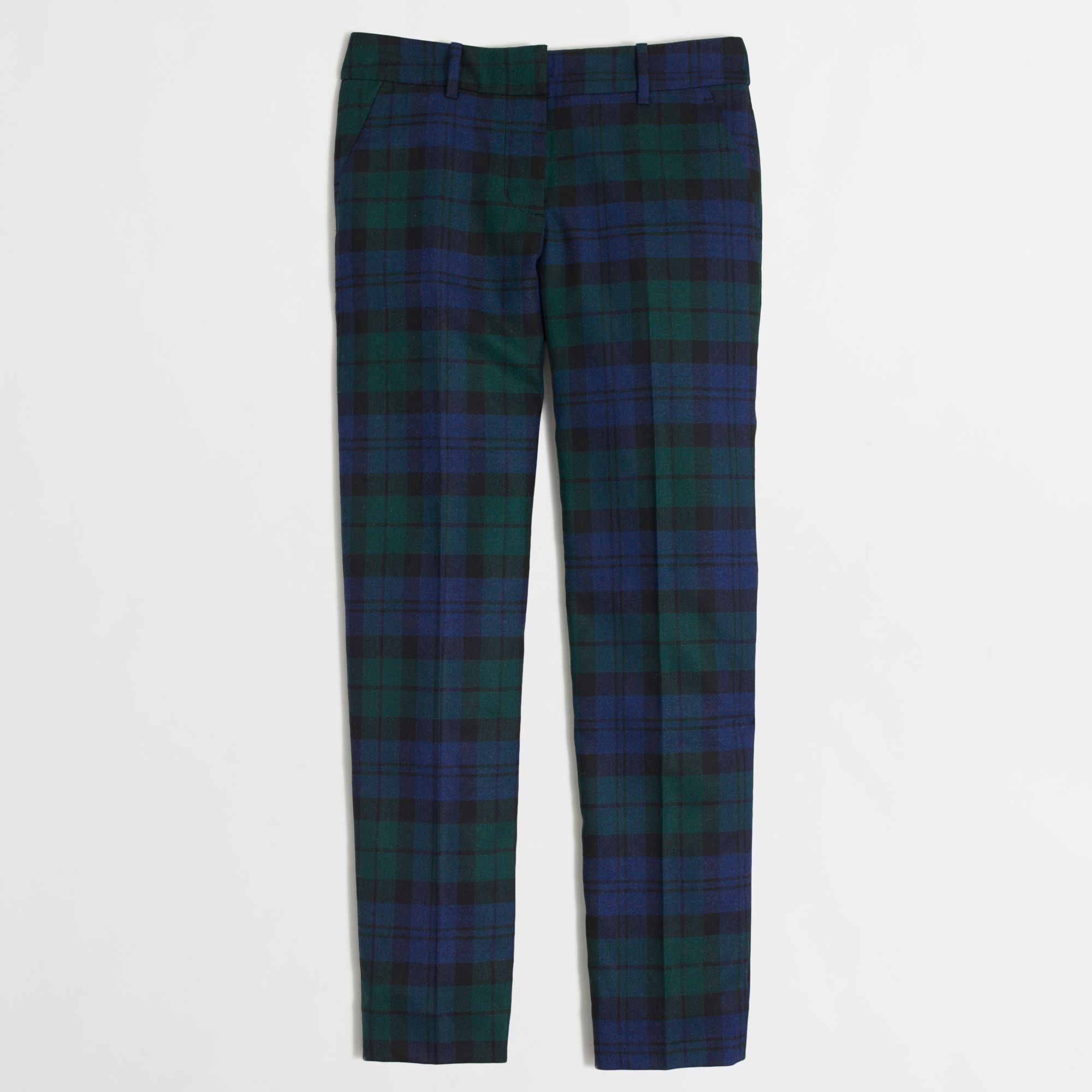 J.crew Factory Skimmer Pant in Black Watch Plaid in Blue | Lyst