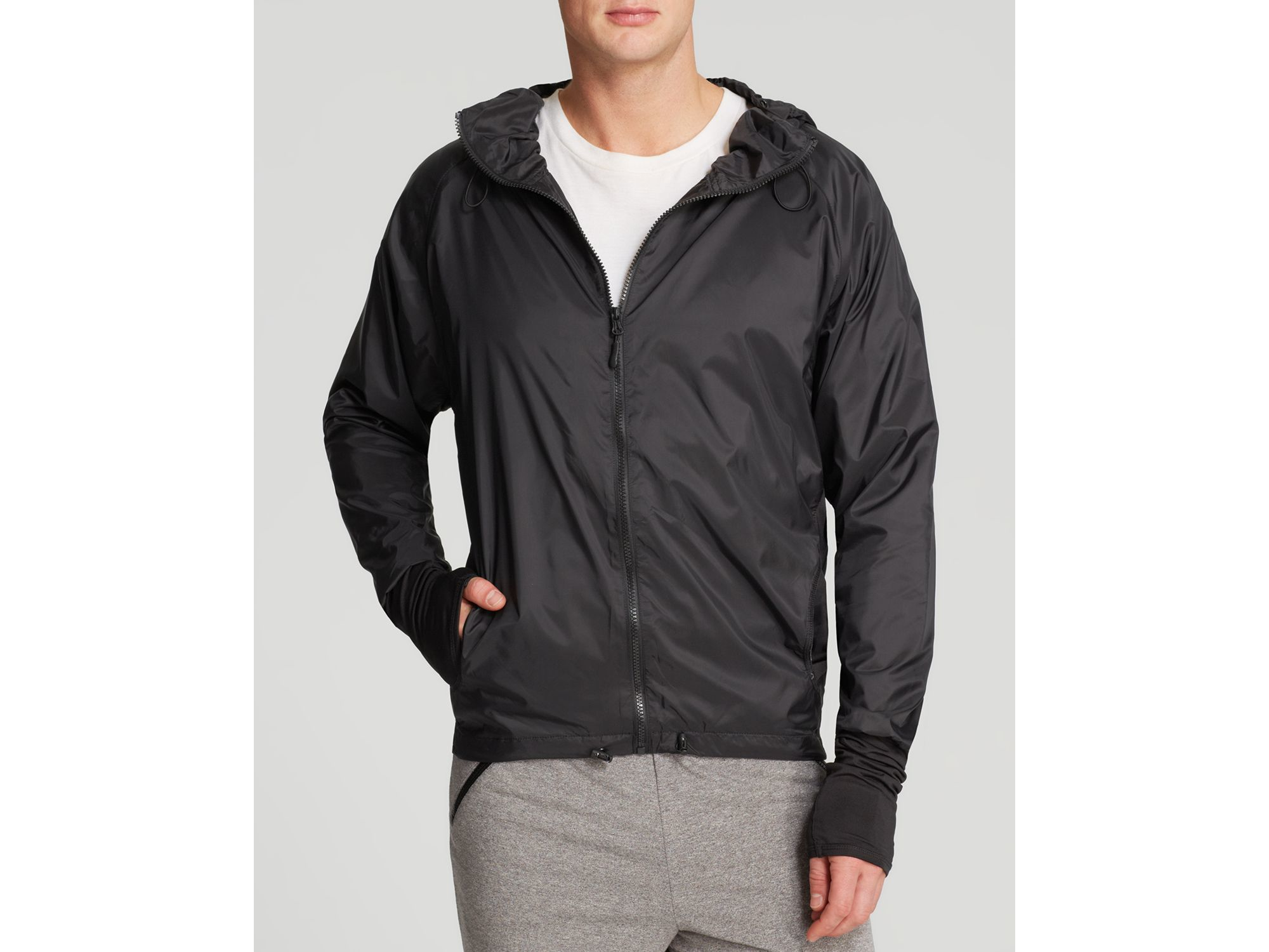 Feats of strength Hooded Waterproof Windbreaker Jacket ...