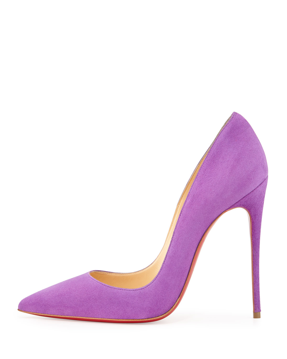 f3cd32320a22 Lyst - Christian Louboutin So Kate Suede Red Sole Pump in Purple