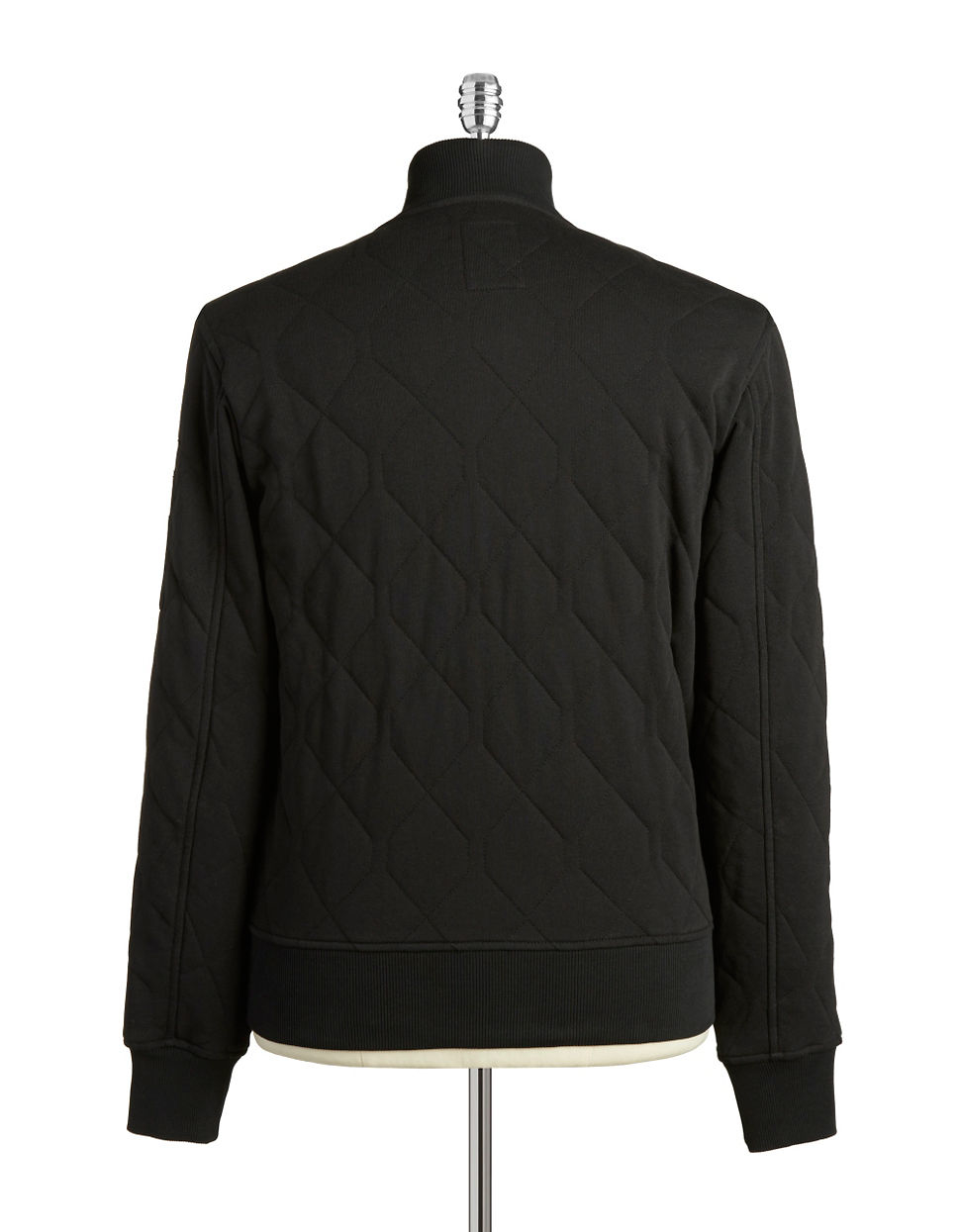 g star raw quilted sweater in black for men lyst. Black Bedroom Furniture Sets. Home Design Ideas