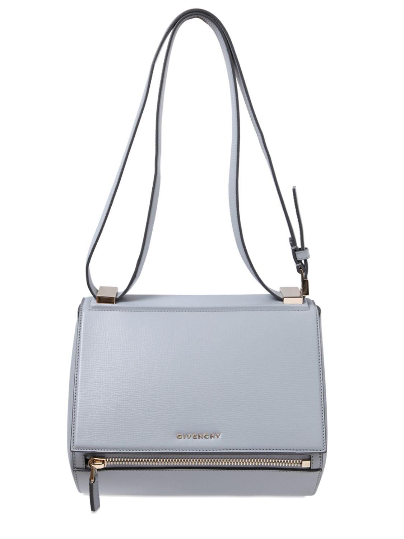 c38b3801d5 Givenchy Medium Pandora Textured Leather Bag in Blue - Lyst