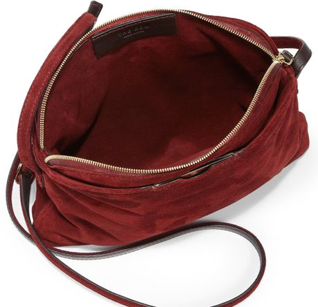 Burgundy Suede Shoulder Bag 37