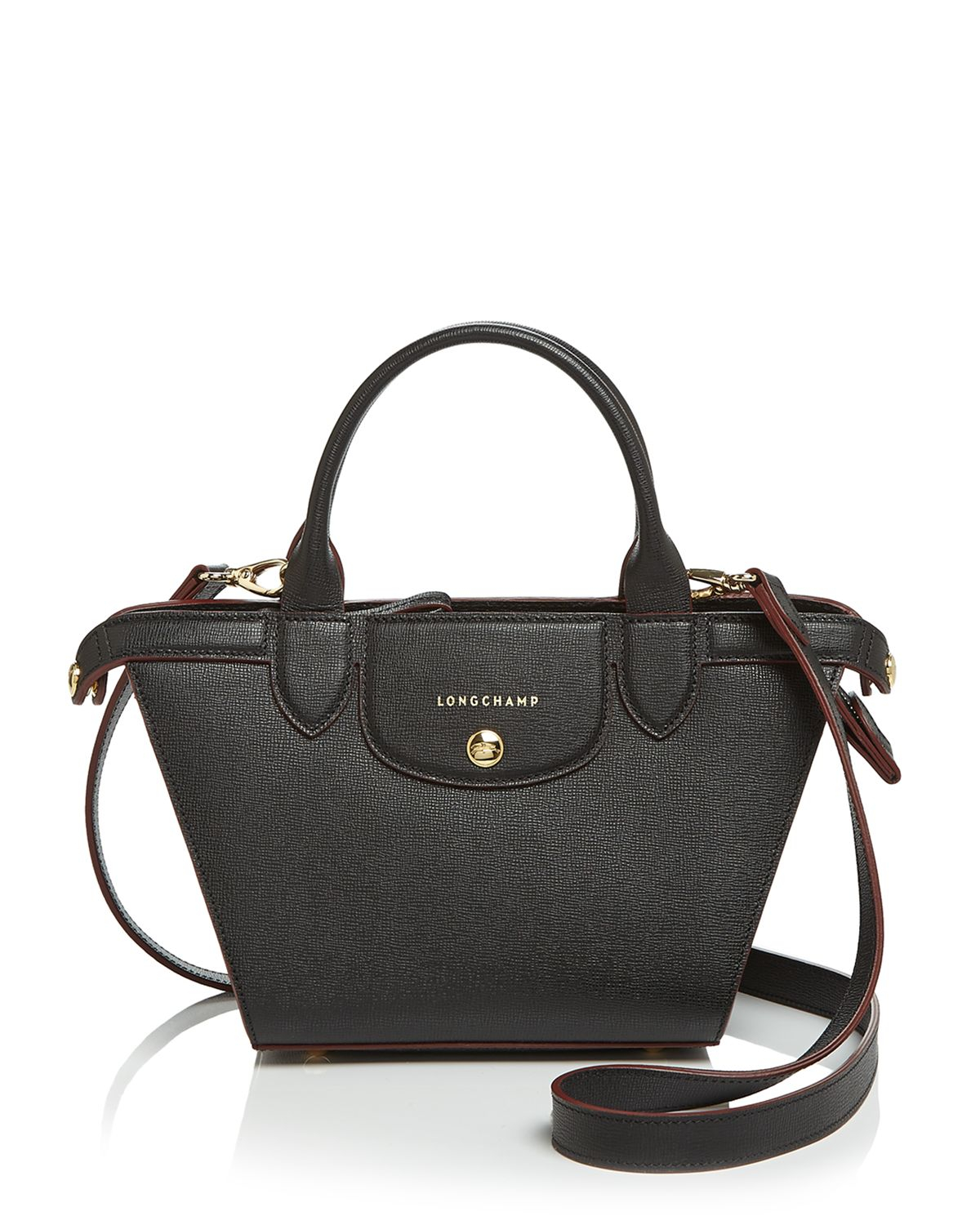 Longchamp Satchel Le Pliage Heritage Small In Black Lyst