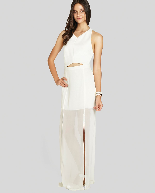White Maxi Dress with Slit