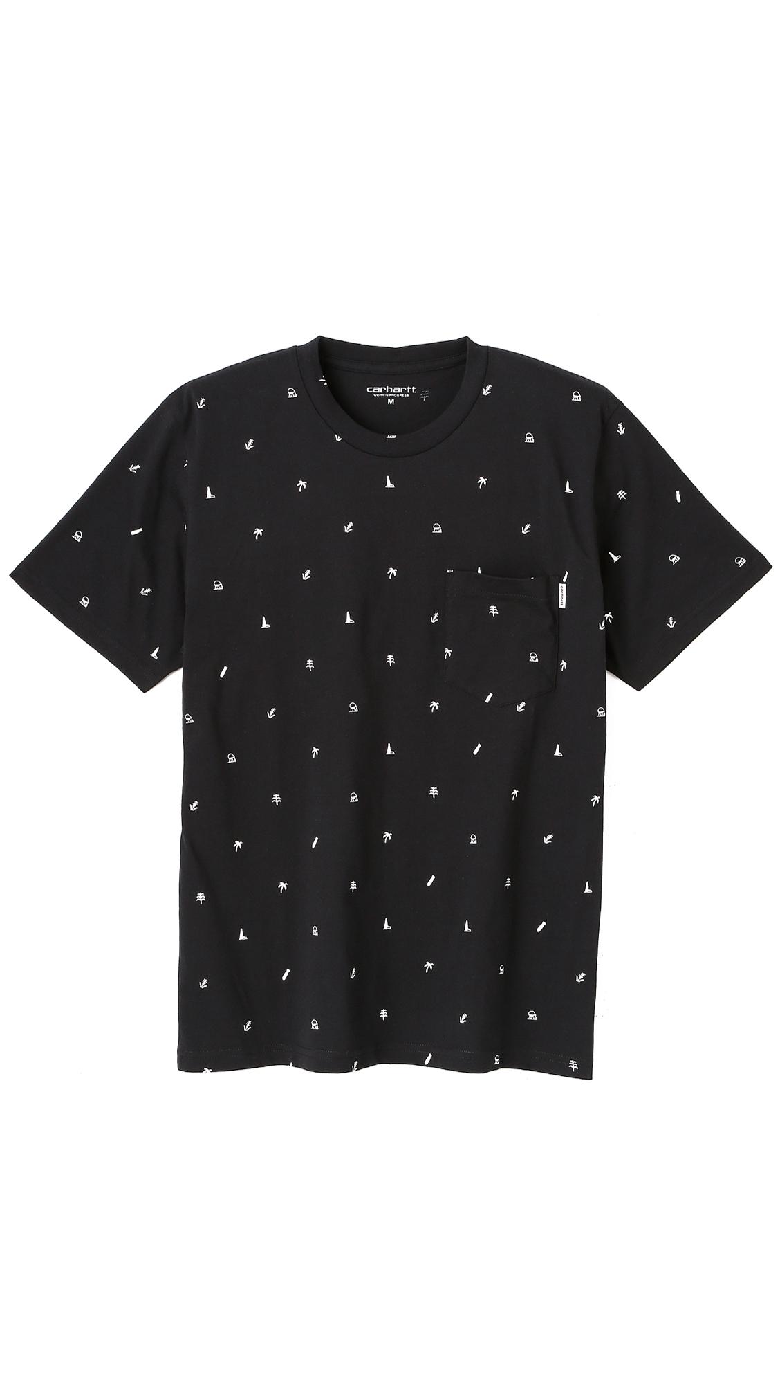 2474d2529 Carhartt WIP Economy Pocket T-Shirt in Black for Men - Lyst