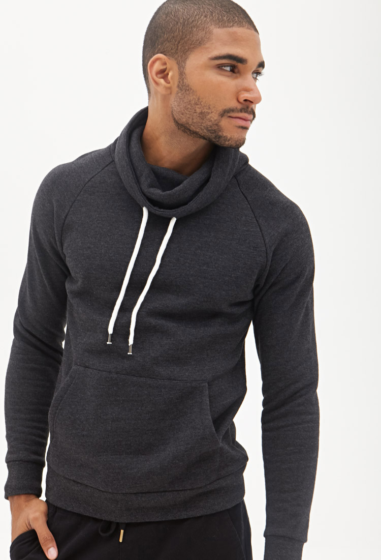 Forever 21 Cowl Neck Sweatshirt in Gray for Men | Lyst