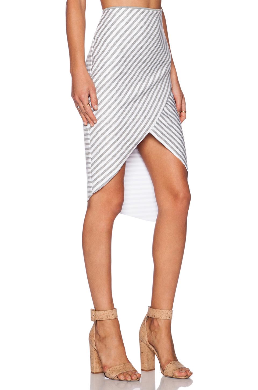 bec bridge electra asymmetric skirt in gray lyst