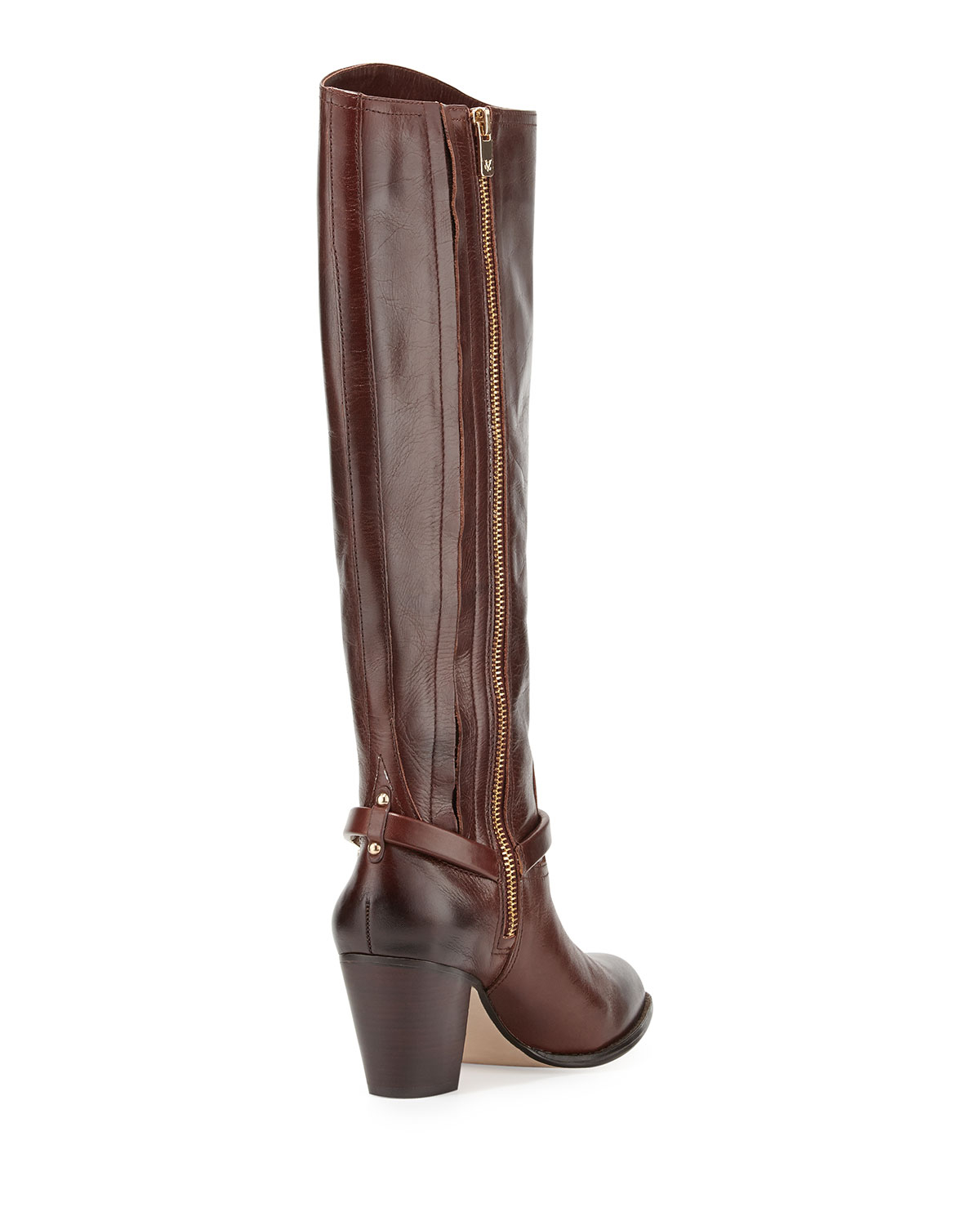 vince camuto signature dalina dyed leather riding boot in