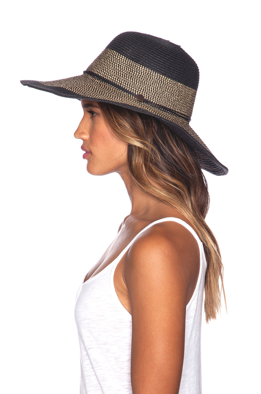 02d64561996 Lyst - Seafolly Shady Lady Royale Floppy Hat in Black