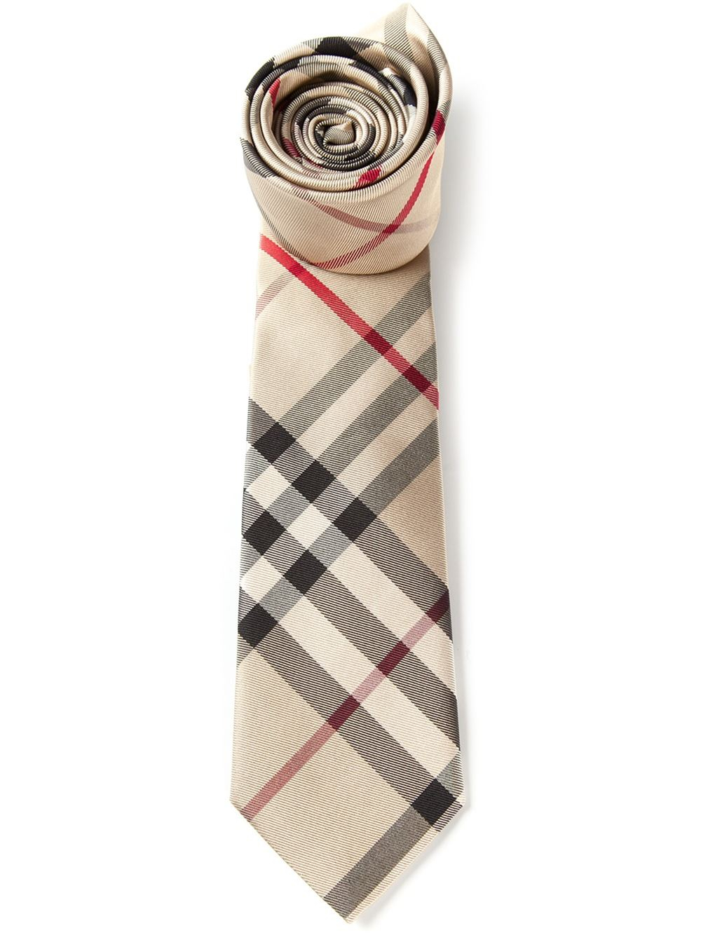 63d341a51658 ... inexpensive lyst burberry nova check tie in brown for men db18a 33312