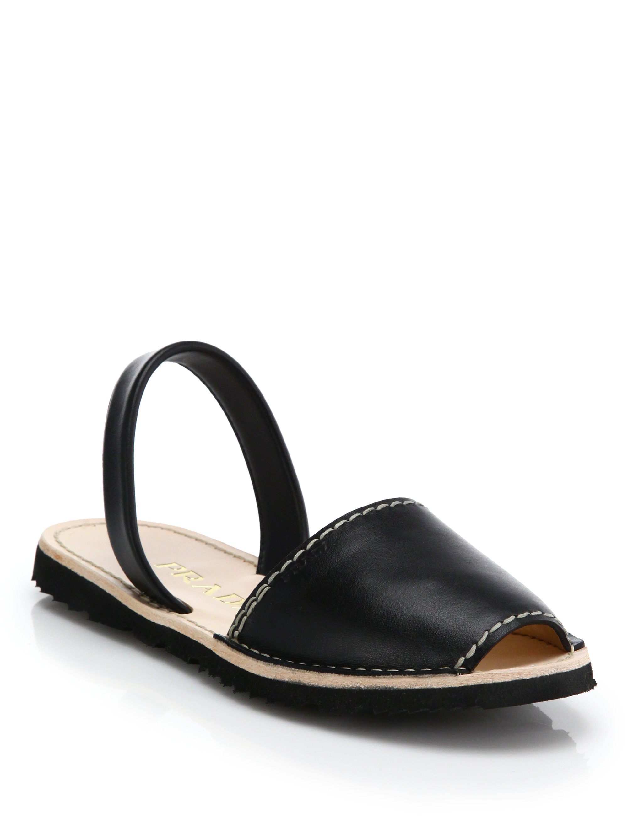 Prada Leather Embossed Sandals official site online wide range of cheap price top quality online largest supplier cheap online 2bos8LL0WF
