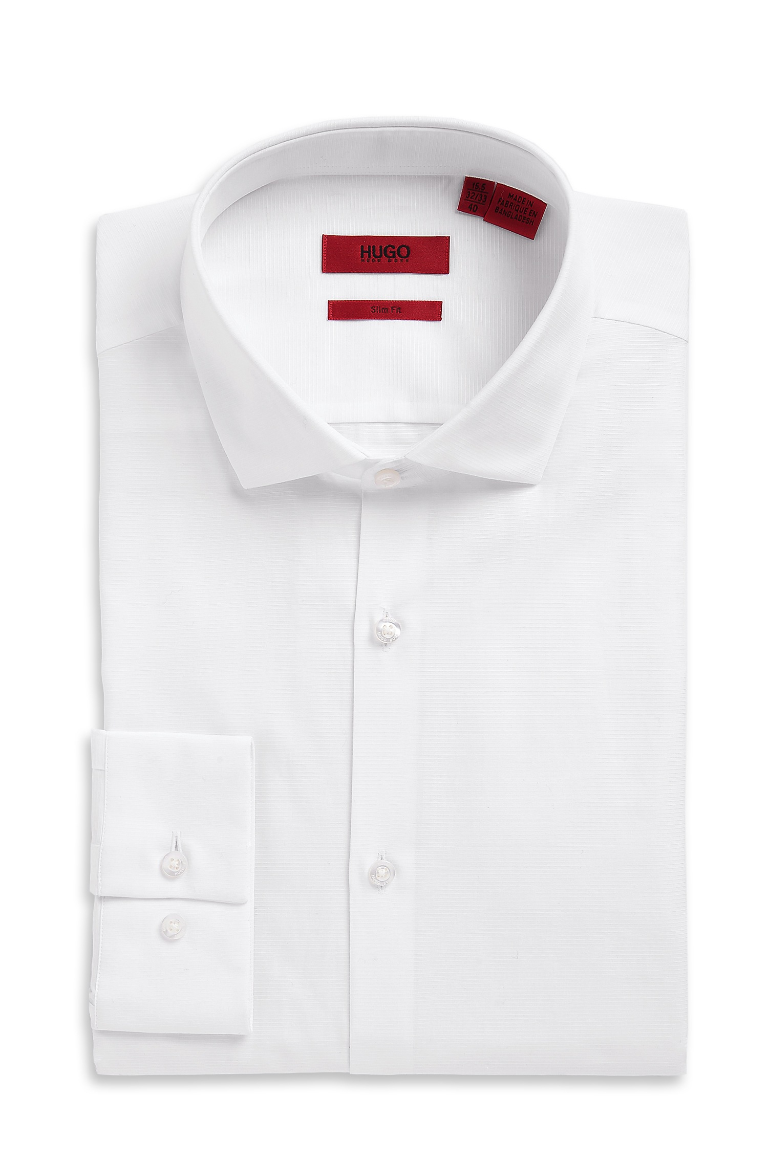 Hugo 39 eastonx 39 slim fit modified spread collar cotton for Spread collar slim fit dress shirts
