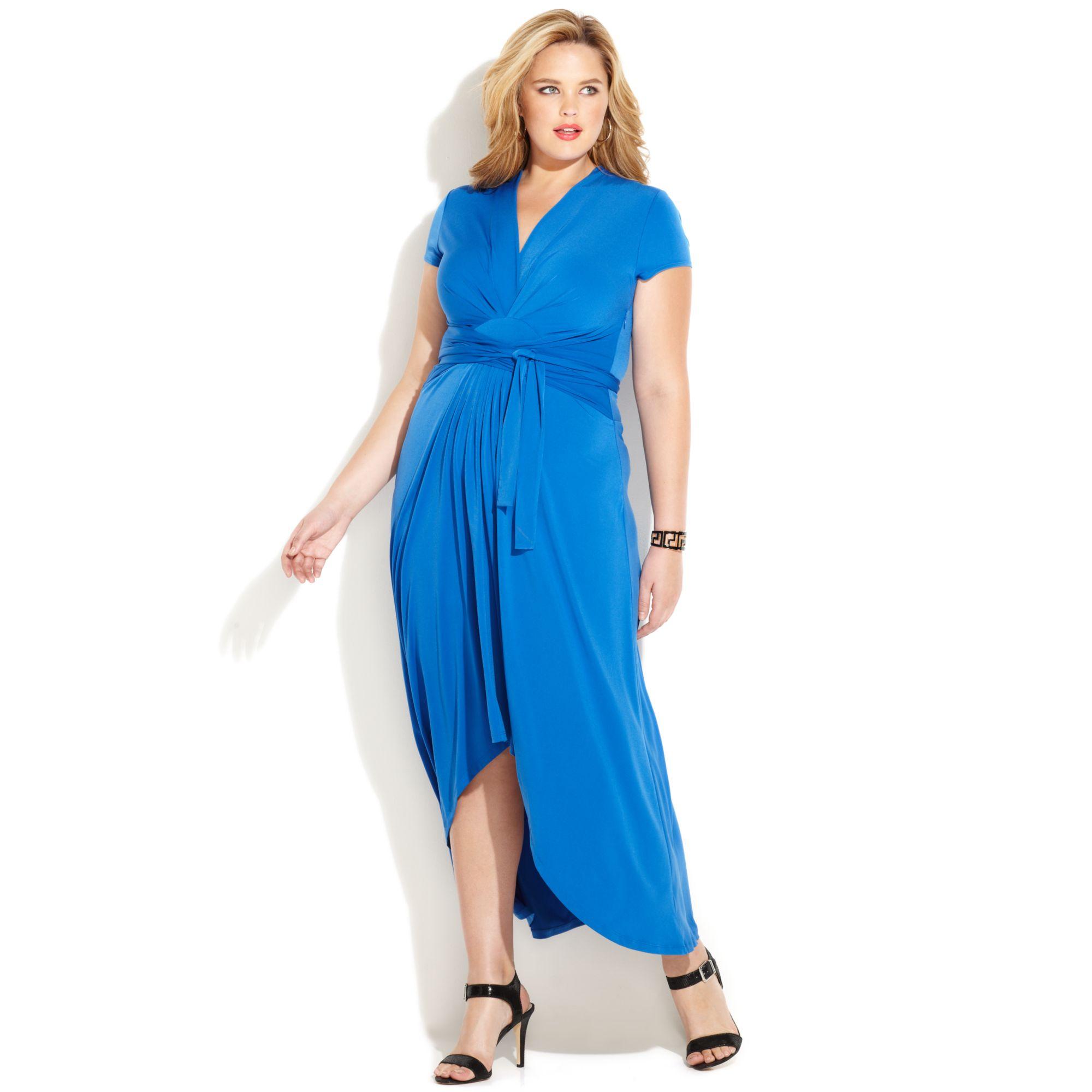 Lyst Michael kors Michael Plus Size Fauxwrap Maxi Dress