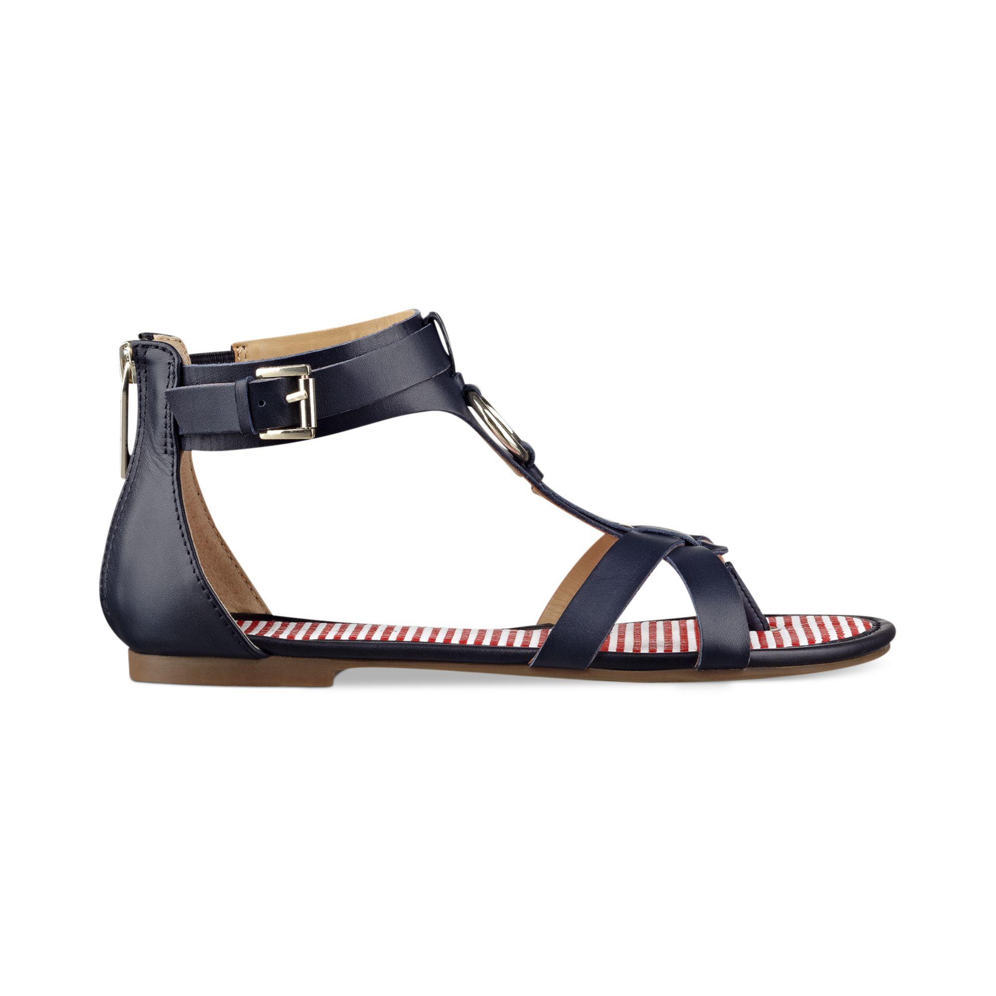 0cefbd54d55 Lyst - Tommy Hilfiger Shyla Gladiator Thong Sandals in Blue