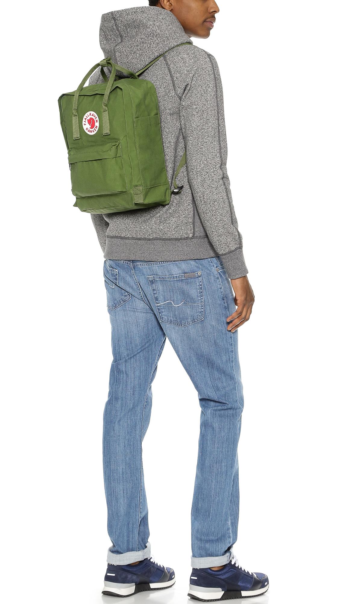 Fjallraven Kanken Backpack in Green for Men - Lyst fa4dccbb9efa9