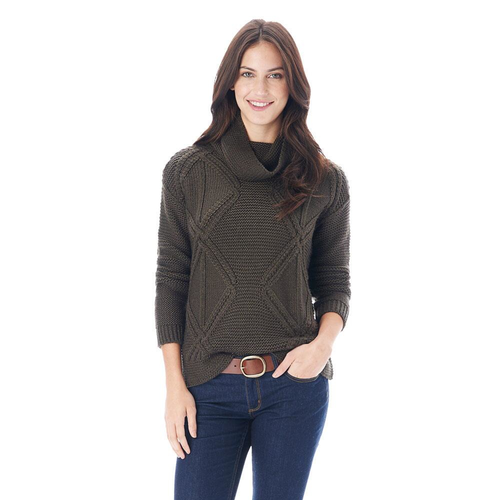 G.h. bass & co. Octavia Cowl Neck Sweater in Green | Lyst