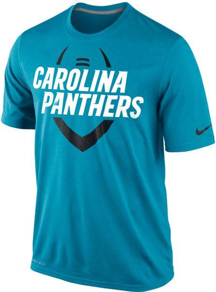 Nike Mens Shortsleeve Carolina Panthers Tshirt In Blue For