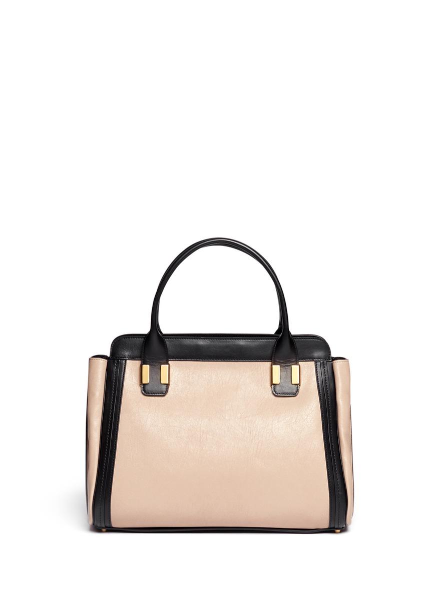 Chlo�� \u0026#39;alice\u0026#39; Two-tone Medium Leather Bag in Black (Multi-colour ...