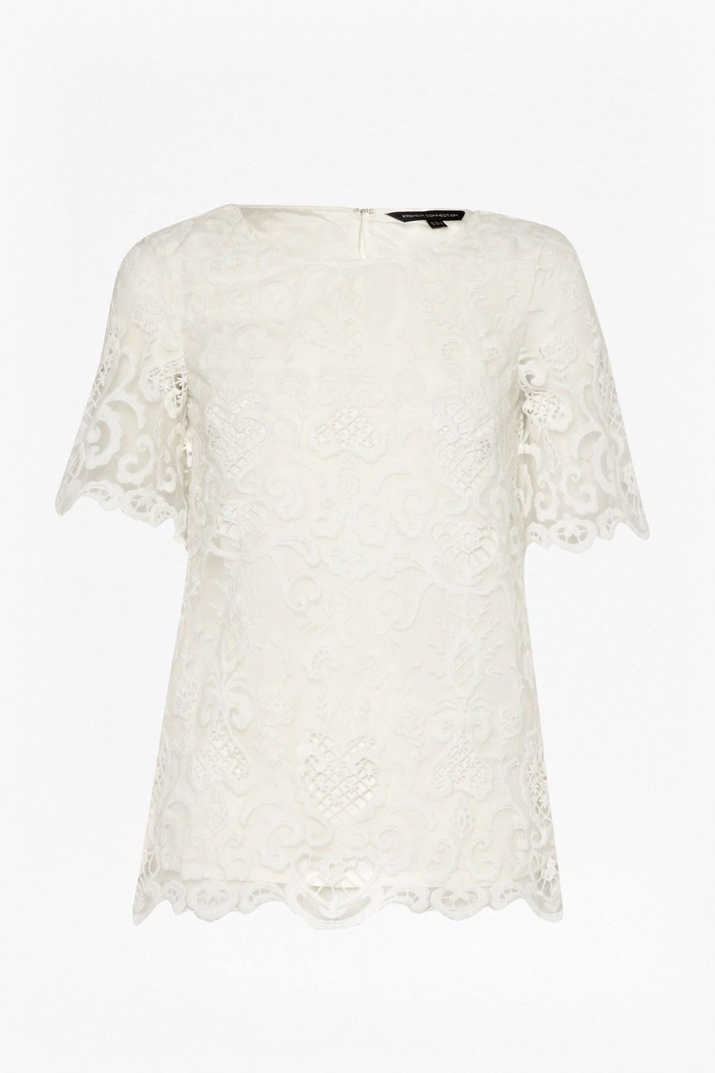 0e61de5e2e French Connection Nebraska Lace Tunic Top in White - Lyst