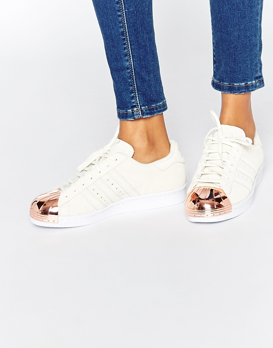 Adidas Superstar 80's Metal Toe W Off White Rose Gold Hers