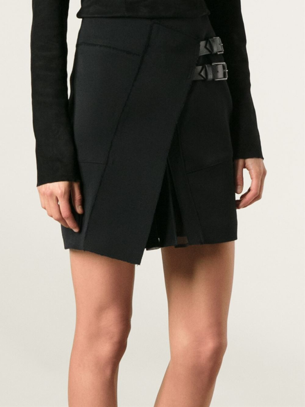 Bonne salope wrap skirt black