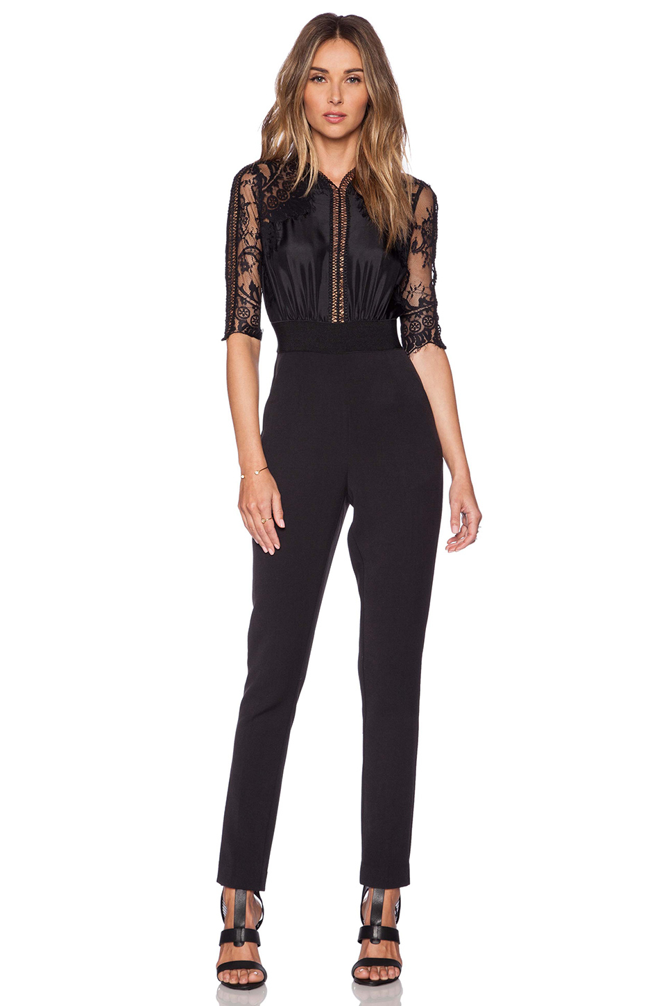 Self Portrait Sequence Lace Jumpsuit In Black Lyst