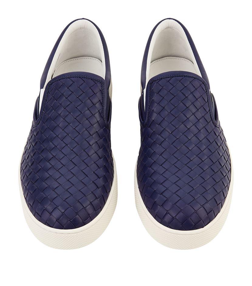 Black Intrecciato Dodger Slip-On Sneakers Bottega Veneta X8A3vQF