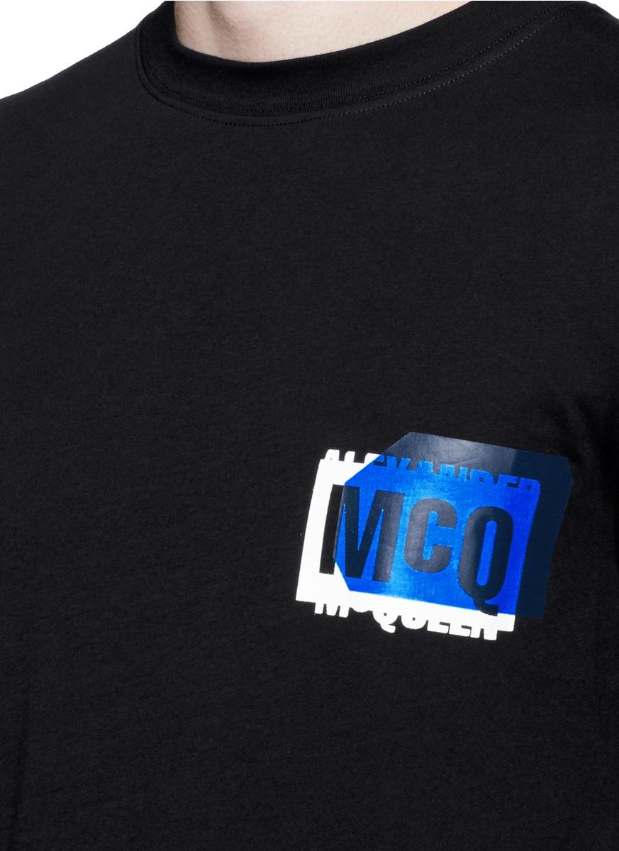 Lyst Mcq Logo Print T Shirt In Black For Men