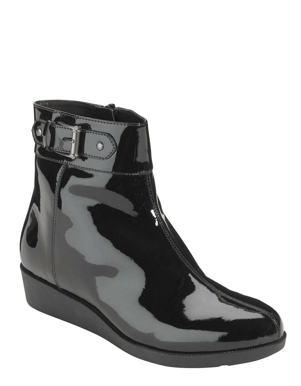 Cole Haan Air Tali Short Patent Leather Rain Bootsair Tali