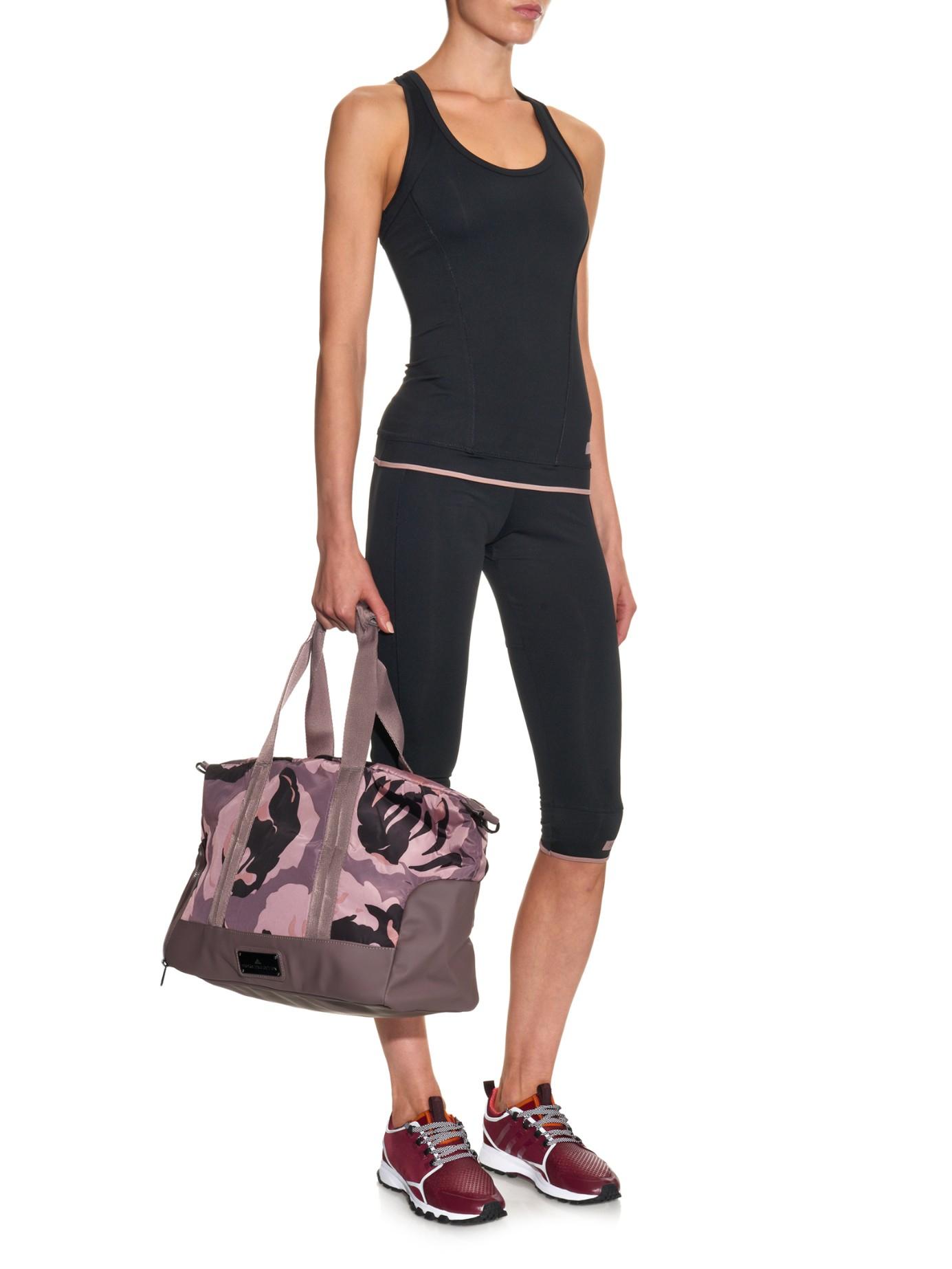 21d1fa9497 adidas By Stella McCartney Canvas Gym Bag in Pink - Lyst