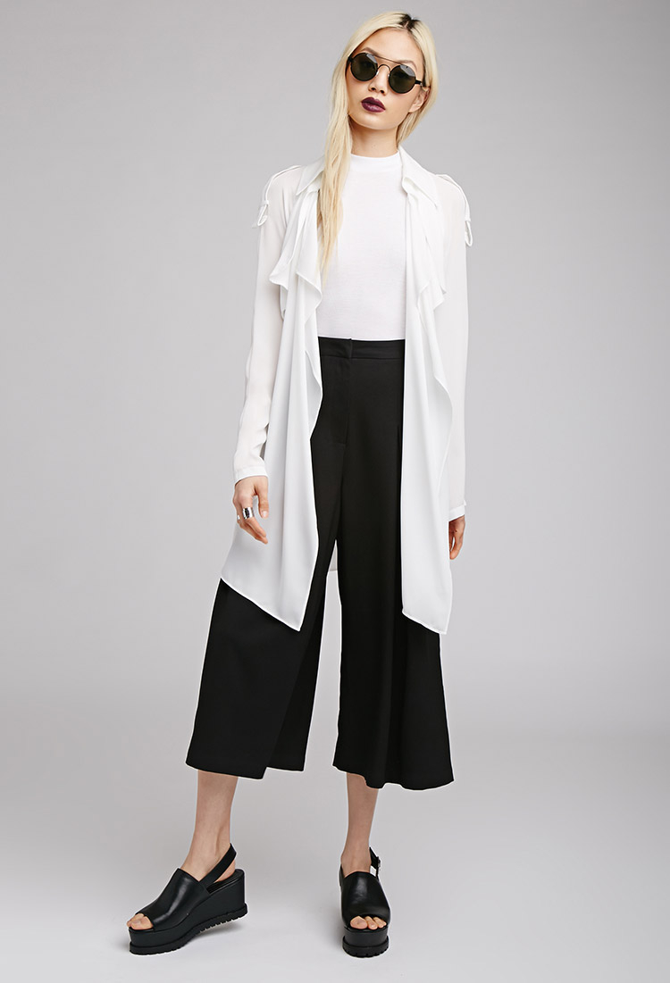 draped trench lightweight missguided drapes coat grey coats