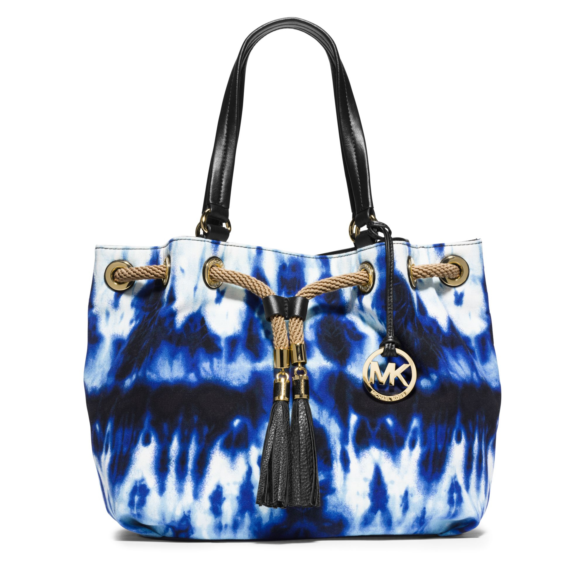 cdb4be88d27b sale michael kors bags blue mk purse poshmark c7a6c 90e4f  inexpensive lyst  michael kors marina large tie dye canvas tote in blue 30b50 d496e