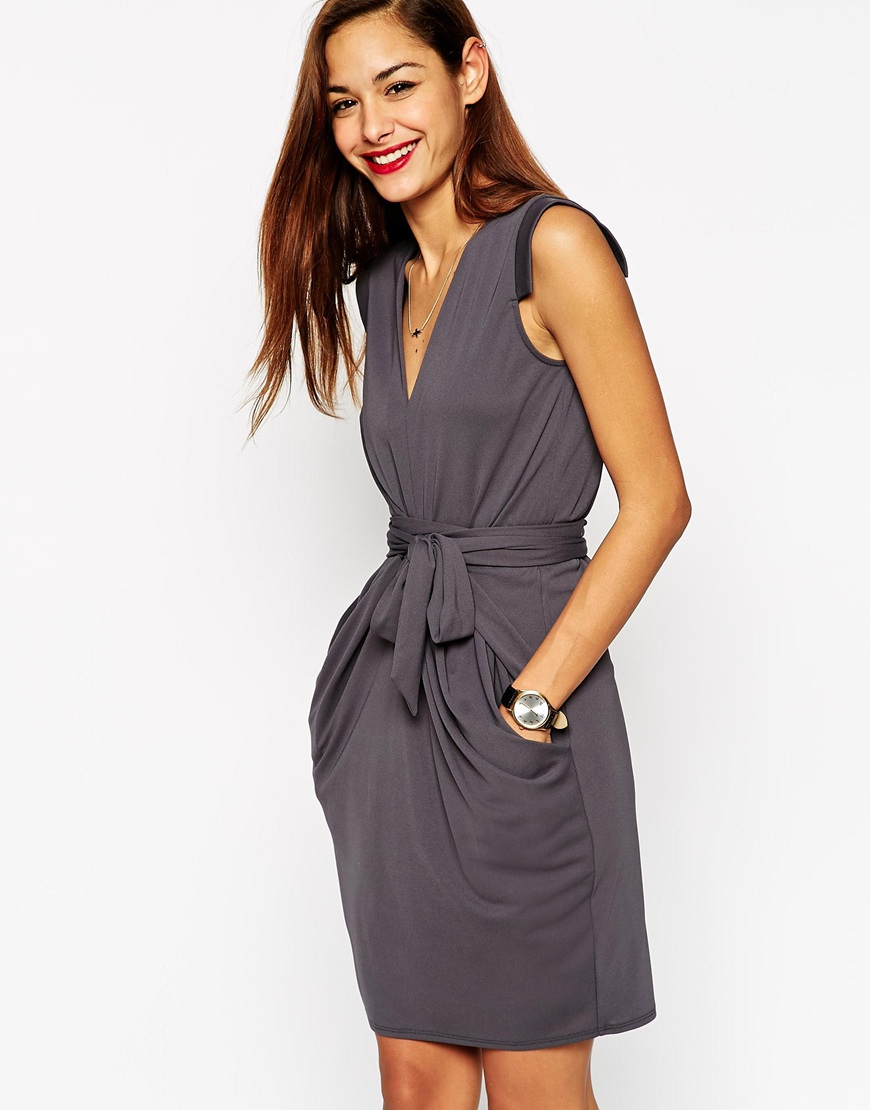 2018 ASOS Obi Wrap Pencil Dress Sale Shop For Professional Online Cheap Many Kinds Of Fashionable For Sale e183UEZ