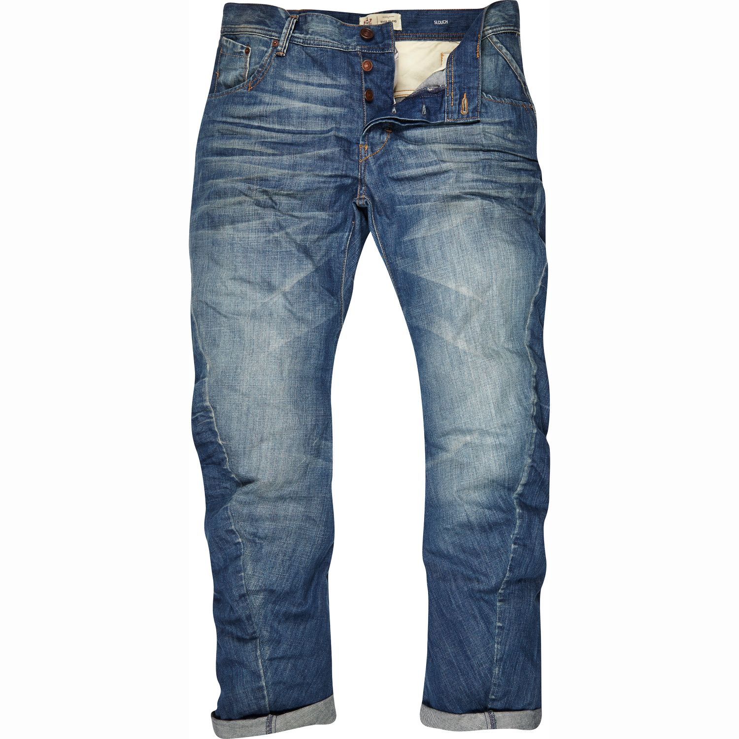 River island Mid Wash Curtis Slouch Jeans in Blue for Men | Lyst