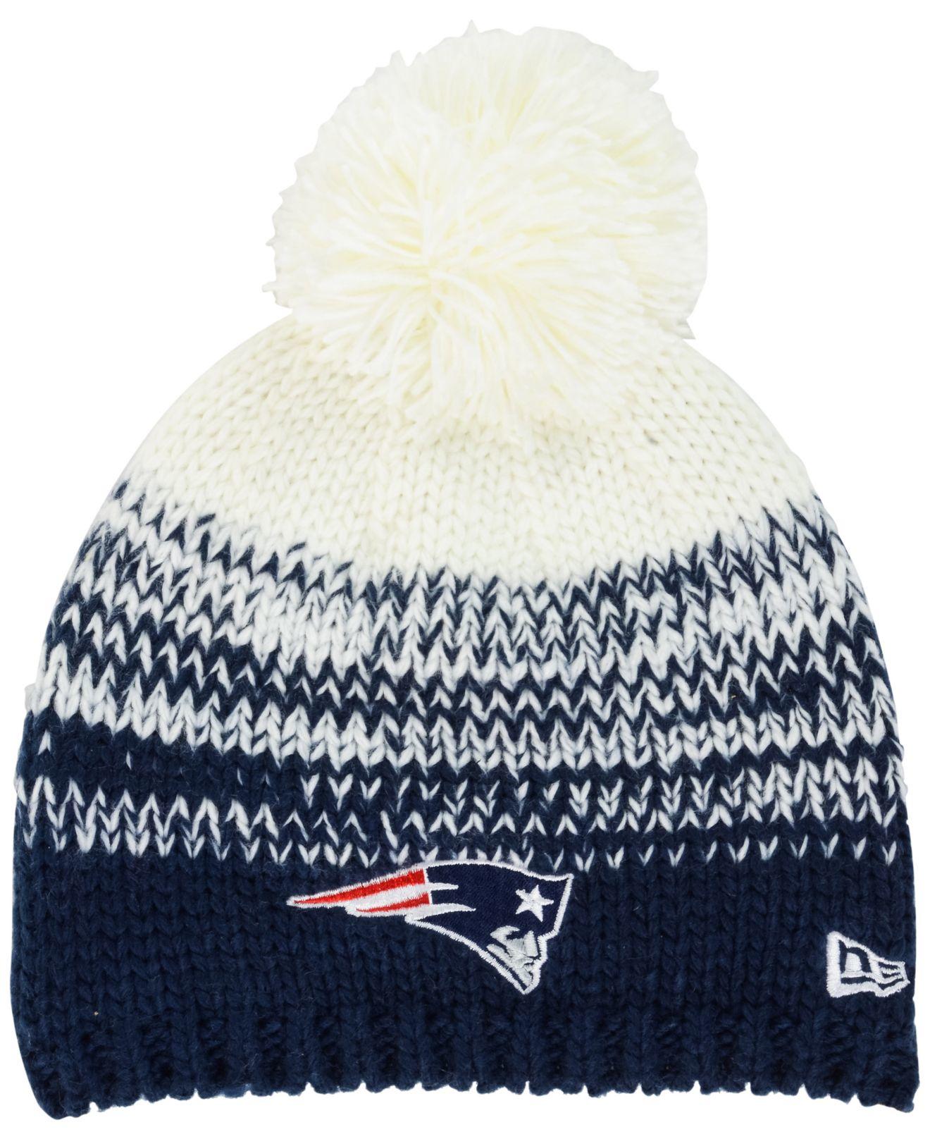1db5f0671d9 Lyst - KTZ Women s New England Patriots Polar Dust Knit Hat in White