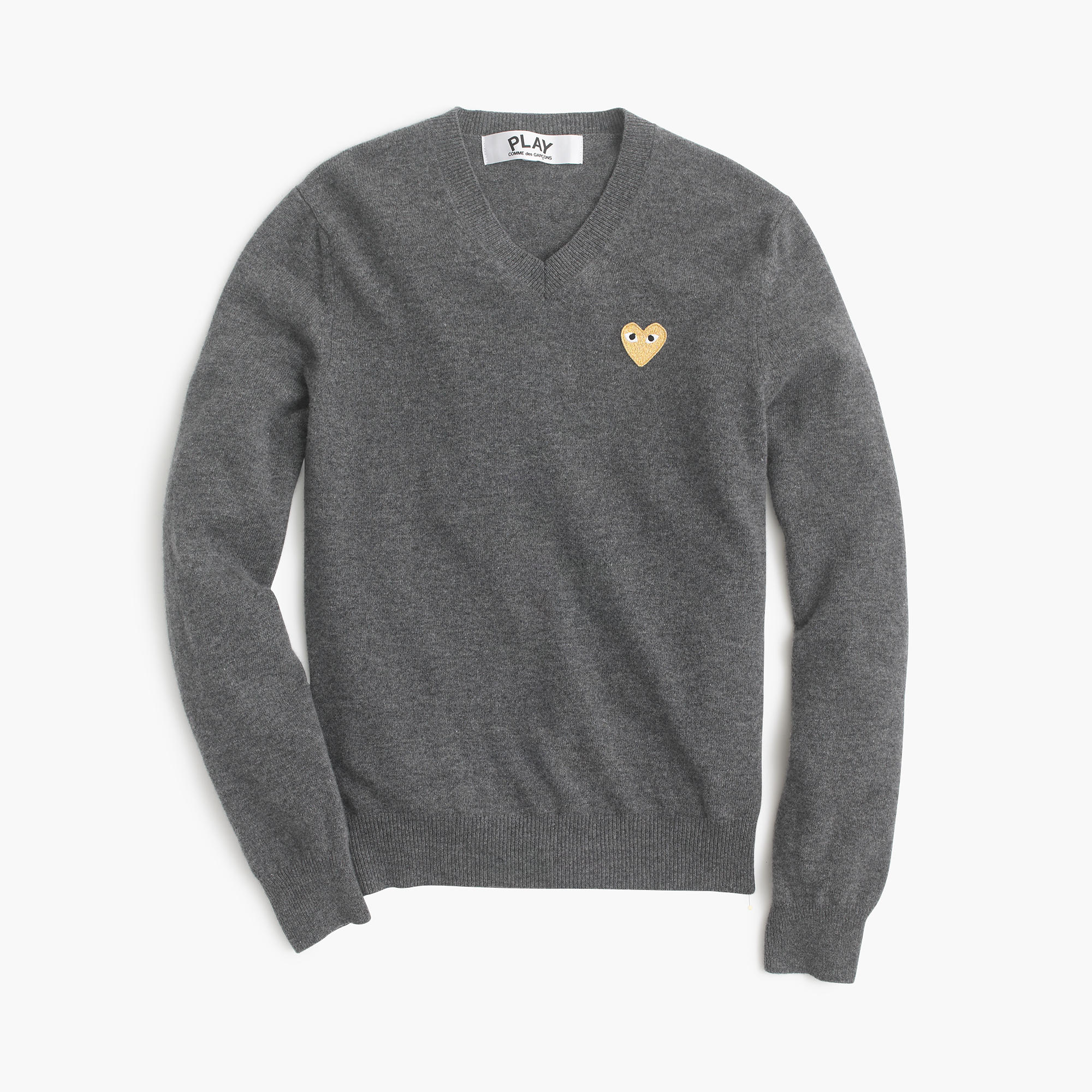 J.crew Play Comme Des Garçons V-neck Sweater With Gold Heart in ...