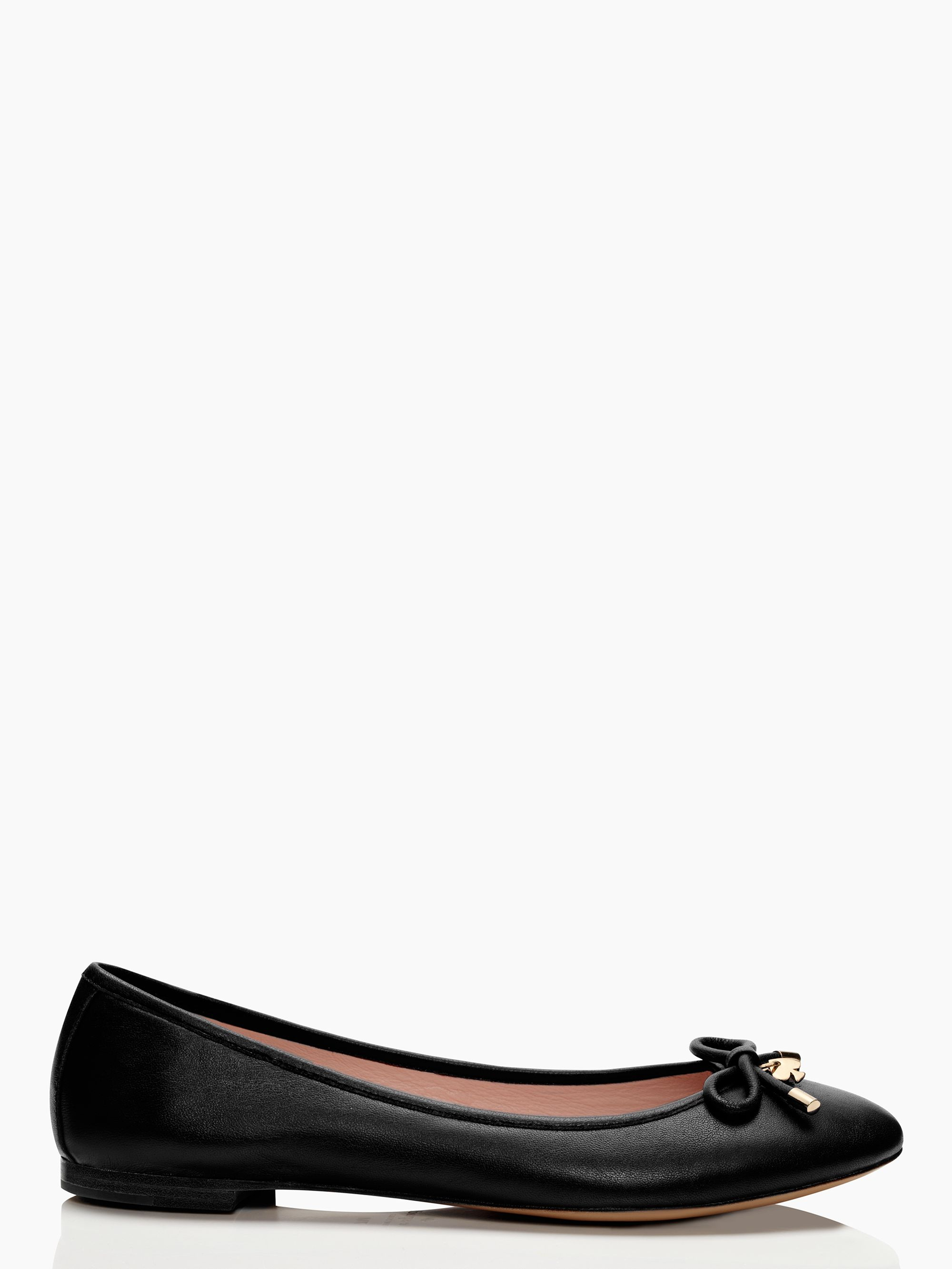 Kate spade willa flats in black lyst for Kate spade new york flats