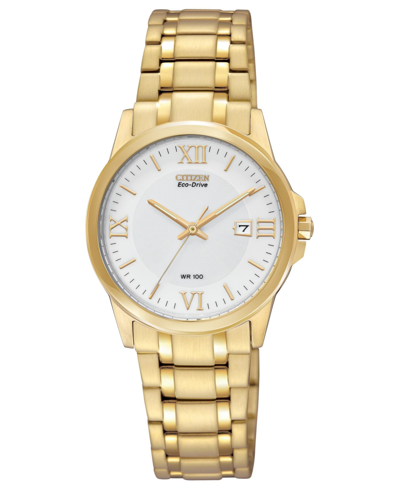 Citizen Women's Eco-drive Gold-tone Stainless Steel ...