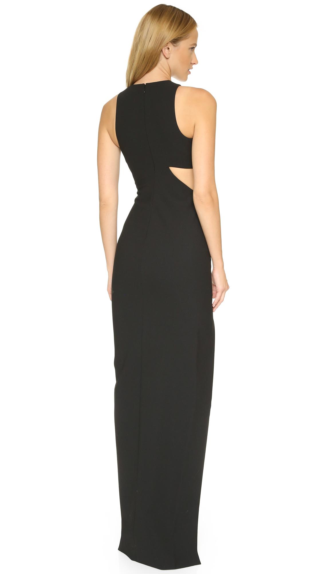 lyst elizabeth and james long guilia dress black in black. Black Bedroom Furniture Sets. Home Design Ideas