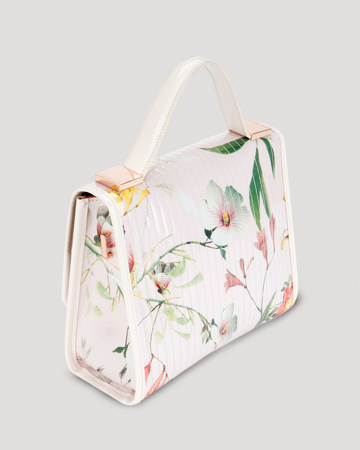 9f38d3f826908b Lyst - Ted Baker Satchel Bessi Botanical Bloom Print in Pink